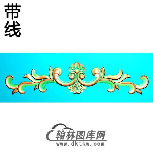 欧式长条洋花精雕图(CTH-293)
