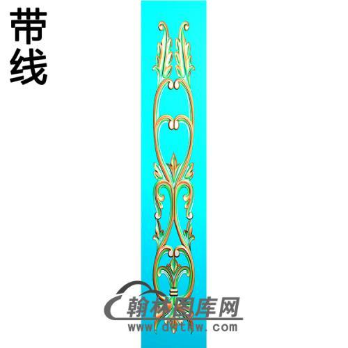欧式长条洋花精雕图(CTH-294)
