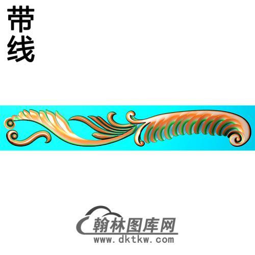 欧式长条洋花精雕图(CTH-295)