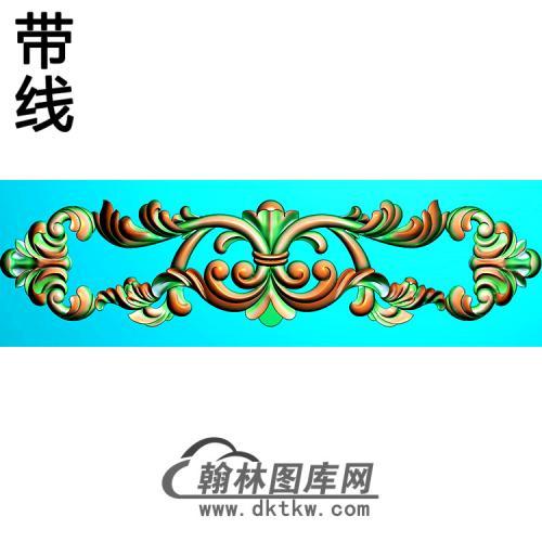 欧式长条洋花精雕图(CTH-296)