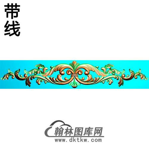 欧式长条洋花精雕图(CTH-297)