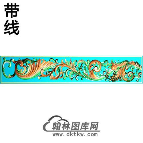 欧式长条洋花精雕图(CTH-298)