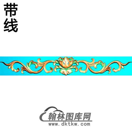 欧式长条洋花精雕图(CTH-299)