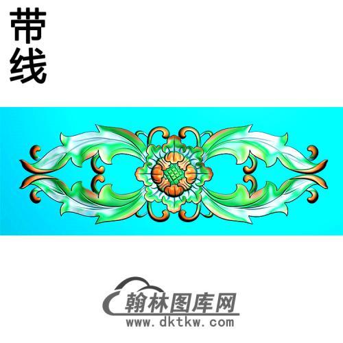 欧式长方形洋花精雕图(CYH-372)