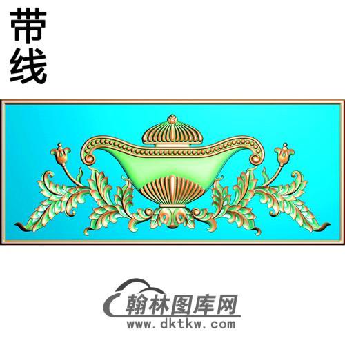 欧式长方形洋花精雕图(CYH-378)