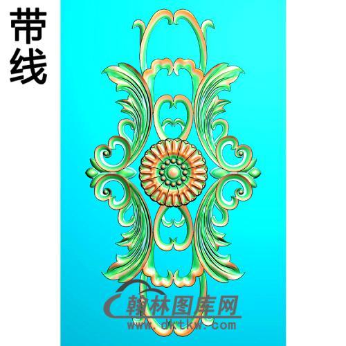 欧式长方形洋花精雕图(CYH-458)