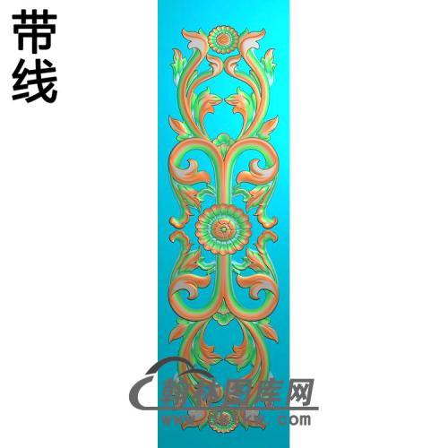 欧式长方形洋花精雕图(CYH-534)