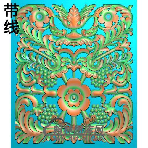 欧式长方形洋花精雕图(CYH-538)