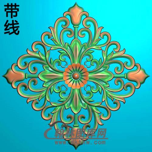 欧式长方形洋花精雕图(CYH-542)