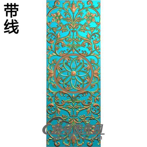 欧式长方形洋花精雕图(CYH-543)