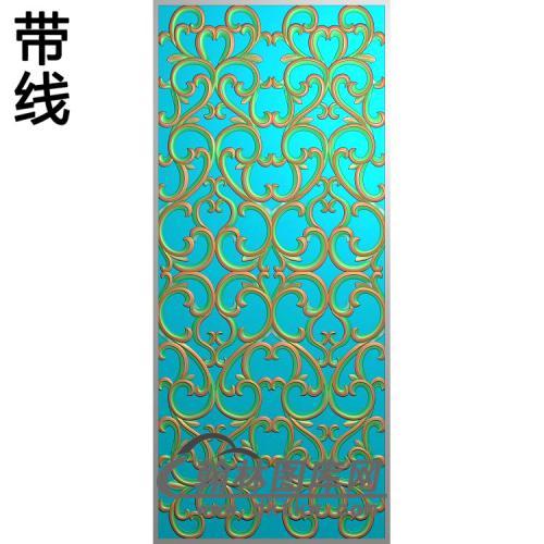 欧式长方形洋花精雕图(CYH-549)