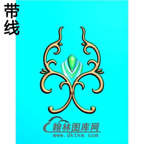 欧式洋花精雕图(QTH-593)