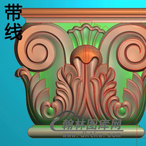 欧式罗马柱头精雕图(LZT-001)