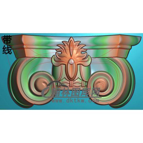 欧式罗马柱头精雕图(LZT-005)