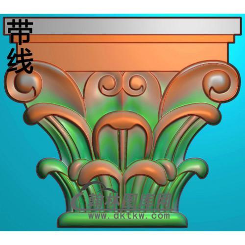 欧式罗马柱头精雕图(LZT-007)