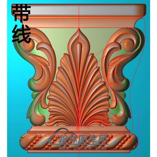 欧式罗马柱头精雕图(LZT-009)