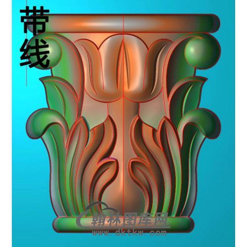 欧式罗马柱头精雕图(LZT-010)