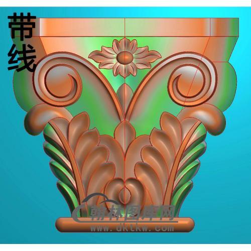 欧式罗马柱头精雕图(LZT-018)