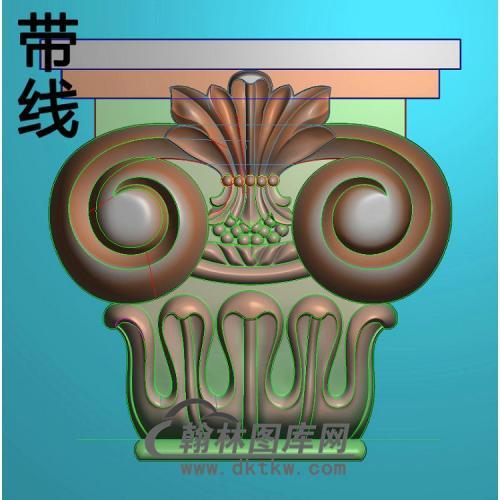 欧式罗马柱头精雕图(LZT-019)