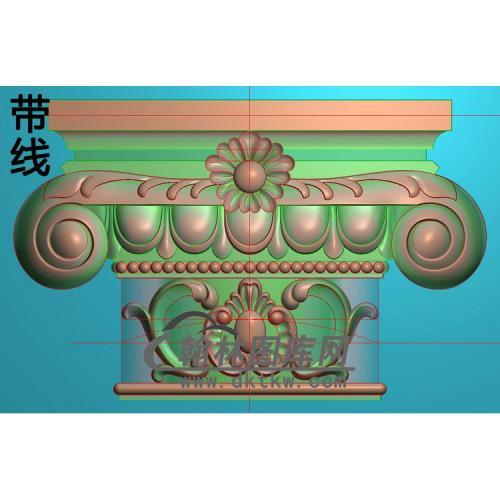 欧式罗马柱头精雕图(LZT-025)