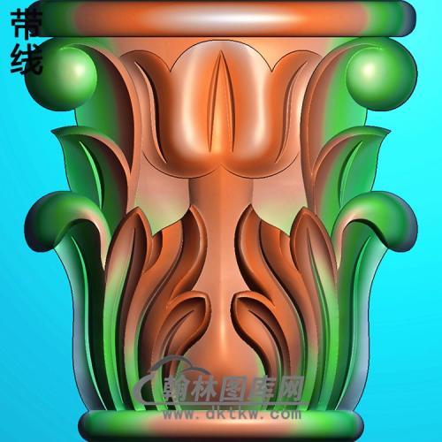 欧式罗马柱头精雕图(LZT-043)
