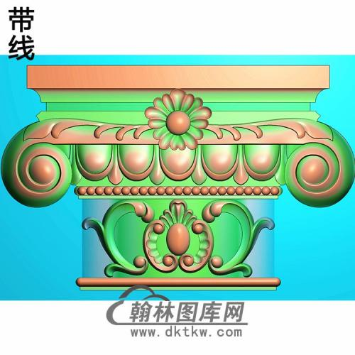 欧式罗马柱头精雕图(LZT-047)