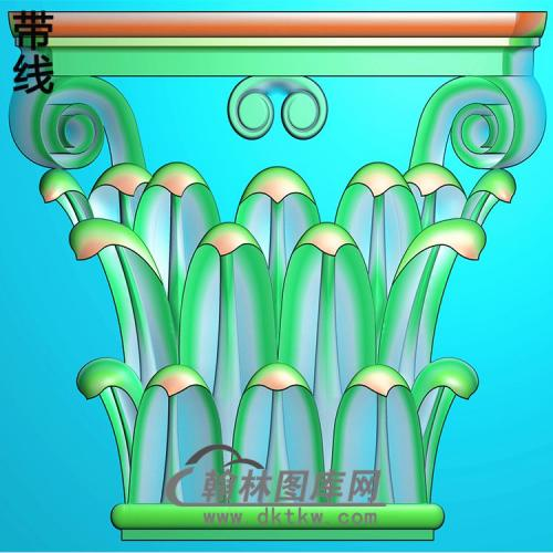 欧式罗马柱头精雕图(LZT-049)