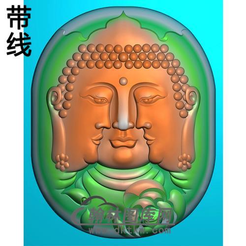 多脸佛半身佛像精雕图(SFX-236)