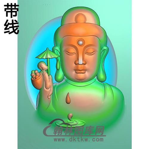 童佛水滴半身佛像精雕图(SFX-272)