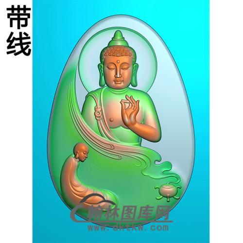 侧脸佛半身佛像精雕图(SFX-288)