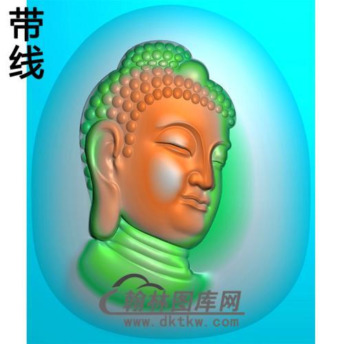 侧脸佛半身佛像精雕图(SFX-290)