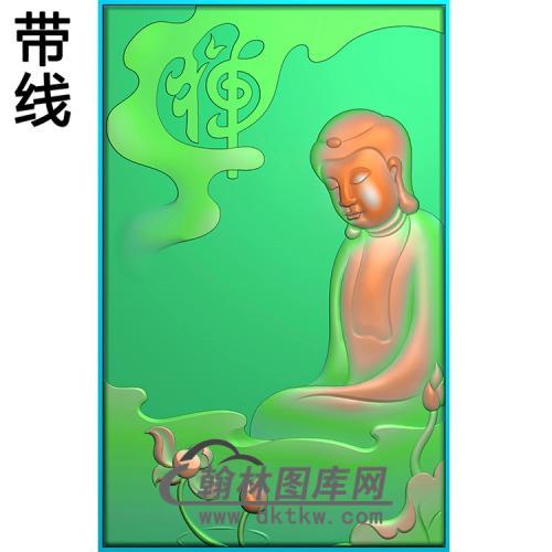 禅佛悟道佛侧脸半身佛像精雕图(SFX-291)
