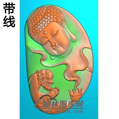 罗汉香炉半身佛像精雕图(SFX-294)