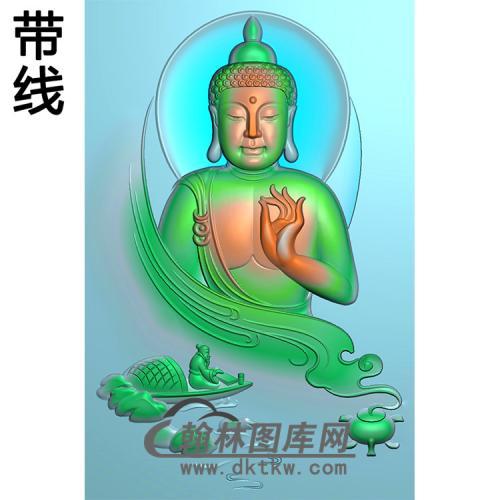 山水香炉半身佛像精雕图(SFX-298)