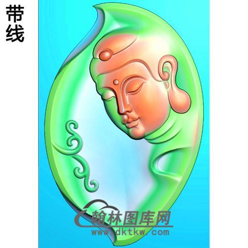 观音菩萨头像半身精品挂件精雕图(BGY-616)