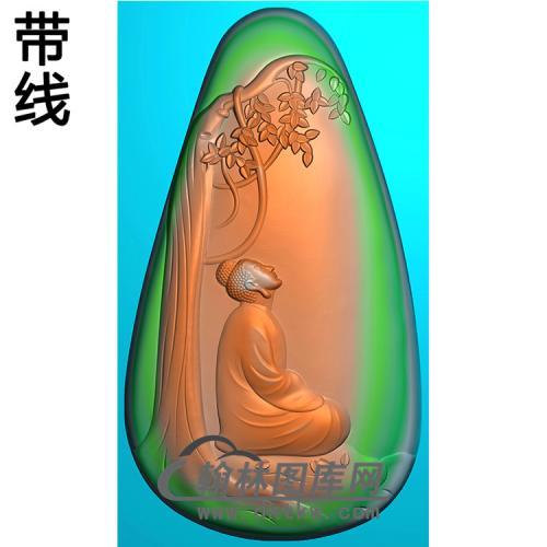 山水佛像精雕图(LFX-030)