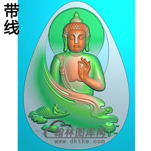 山水佛像精雕图(LFX-034)