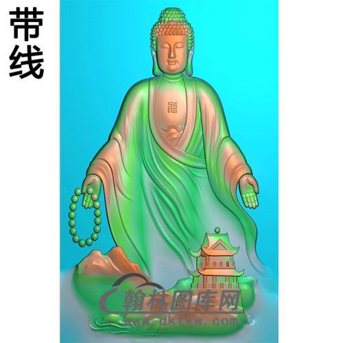 建筑山水佛像精雕图(LFX-039)