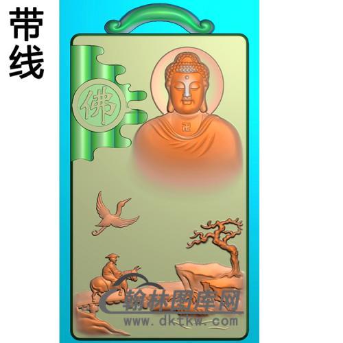 山水人物佛像精雕图(LFX-040)