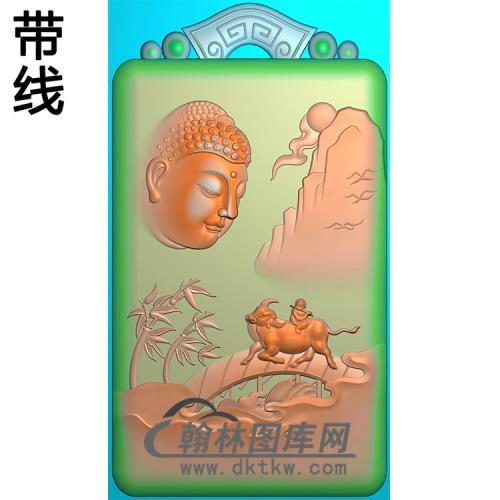 山水动物佛像精雕图(LFX-041)
