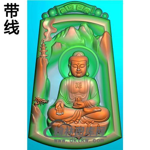 山水建筑佛像佛像(LFX-049)