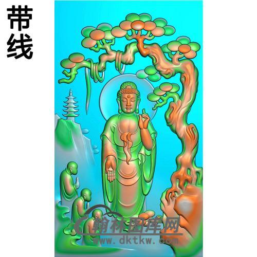 山水建筑人物佛像精雕图(LFX-058)