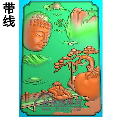 山水建筑人物佛像精雕图(LFX-059)