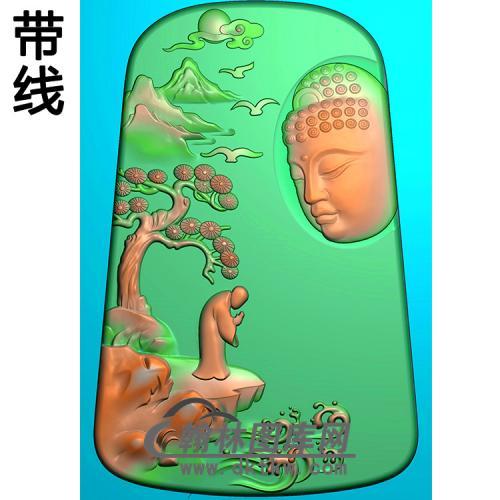山水人物佛像精雕图(LFX-061)