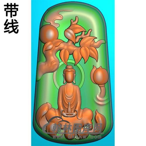 悟道佛像精雕图(DXF-302)