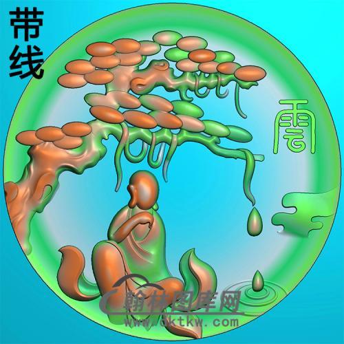 悟道佛像精雕图(DXF-322)