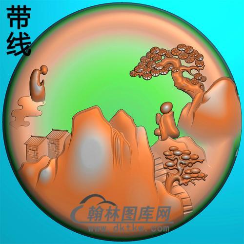 悟道佛像精雕图(DXF-324)