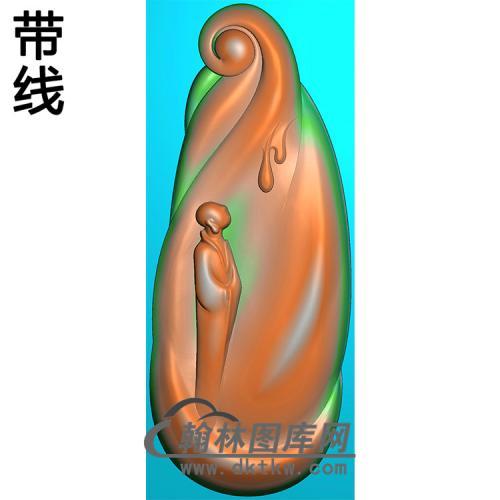 悟道佛像精雕图(DXF-325)