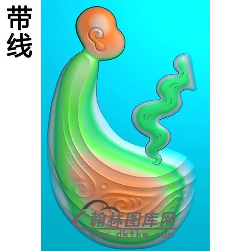 悟道佛像精雕图(DXF-330)