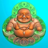 弥勒佛精雕图(MLF-456)